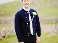 Traditionellt folkklädd brudgum, Färöarna, Torshavn