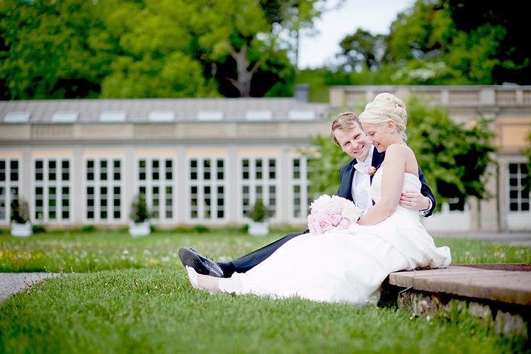 Bröllopsfotografering Ulriksdals slottspark