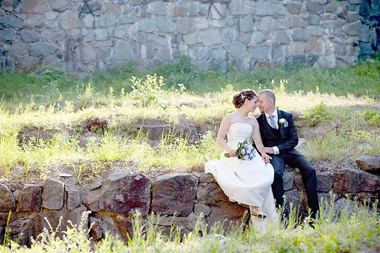 Romantiska bröllopsbilder i Haga ruiner