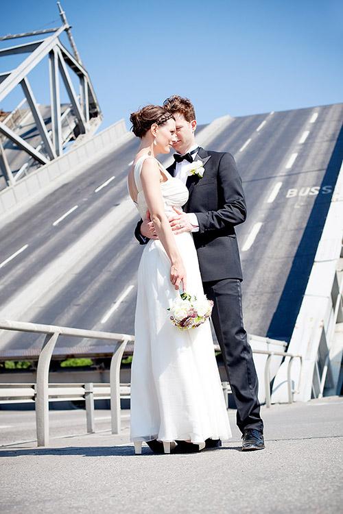 Modern bröllopsfotografi i Danvikstull