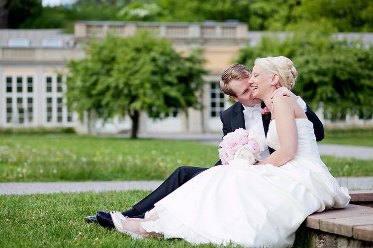 bröllop i Ulriksdals slottsträdgård