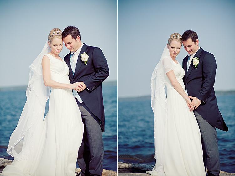 Brudpar fotograferade av bröllopsfotograf Jessica Lund