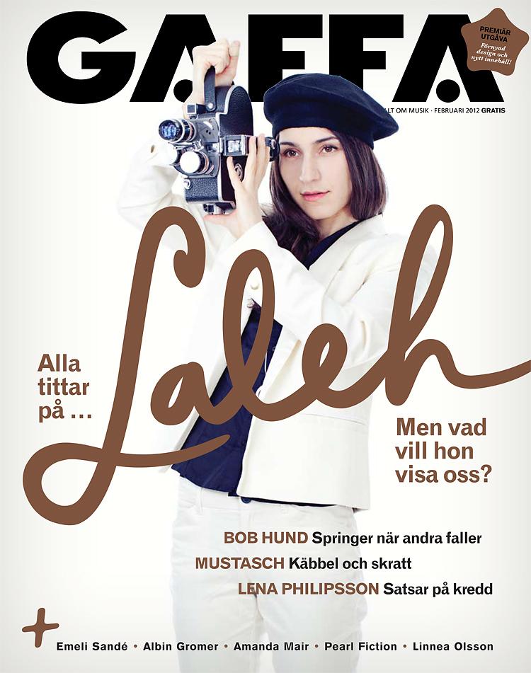 Laleh, omslag för Gaffa nr 2, fotograferad av Jessica Lund