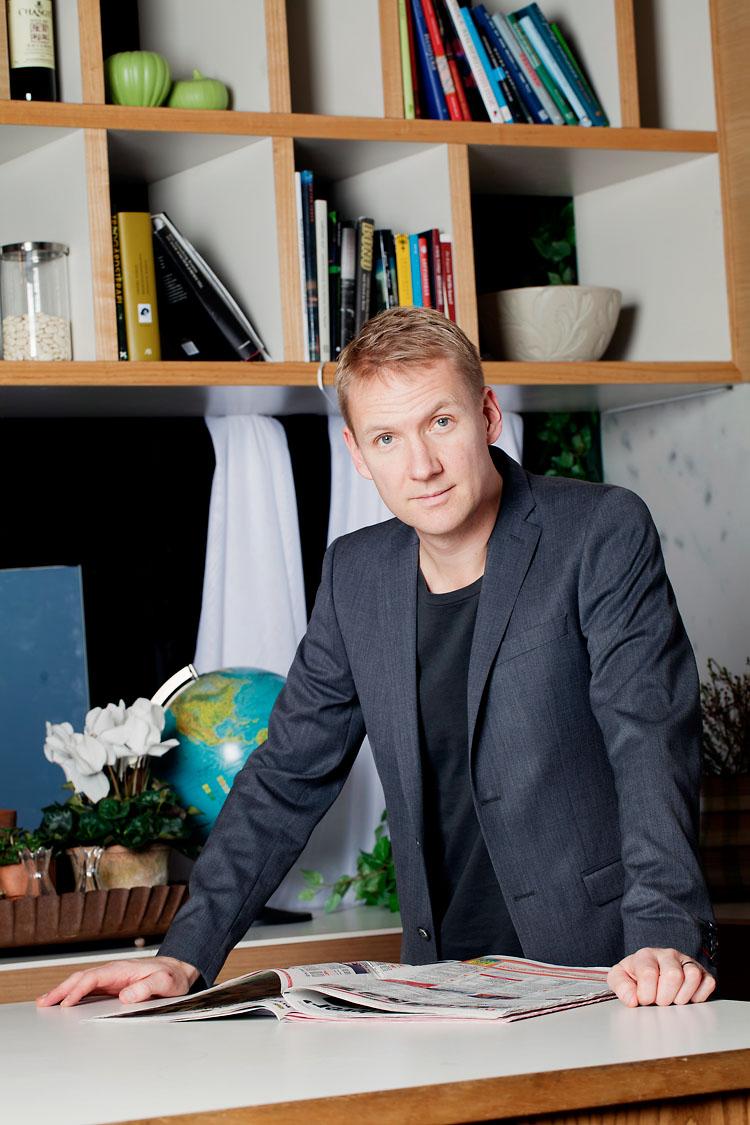 Jesper Börjesson fotograferad på TV4