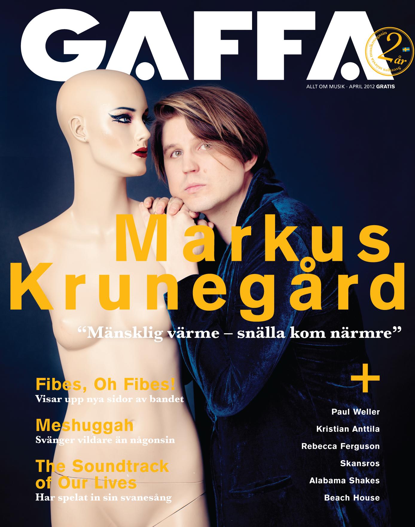 Gaffa omslag Markus Krunegård fotograferad av Jessica Lund