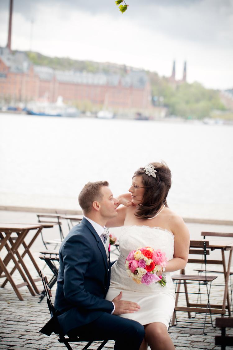 regn under bröllopsfotografering