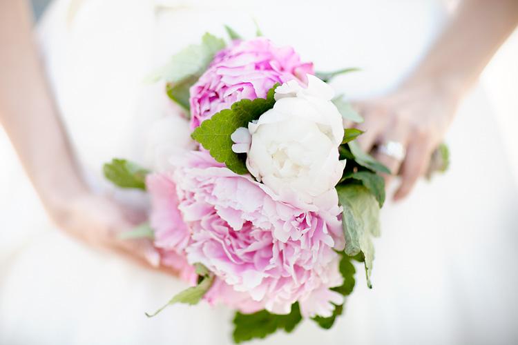 romantisk brudbukett i rosa