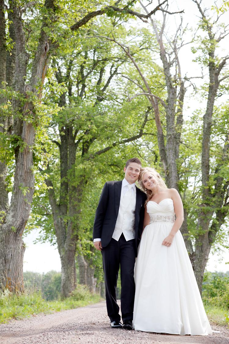 Bröllopsfotografering allé