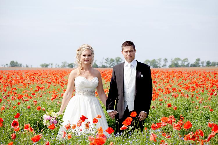 Bröllopsfotografering vallmo