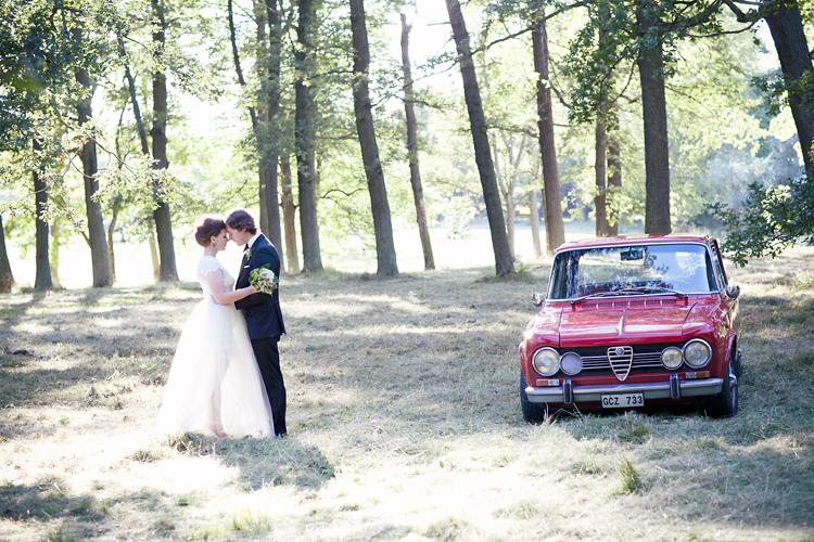 Alfa Romeo på bröllopsplåtning