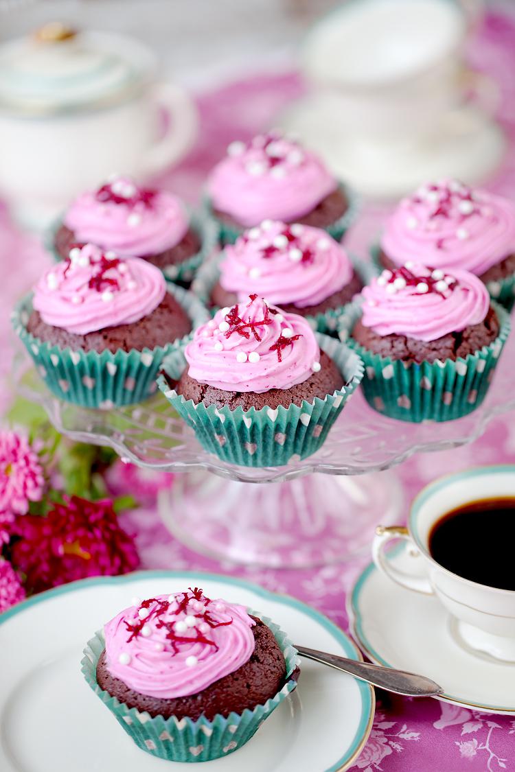 Cupcakes fotograferade av matfotograf Jessica Lund