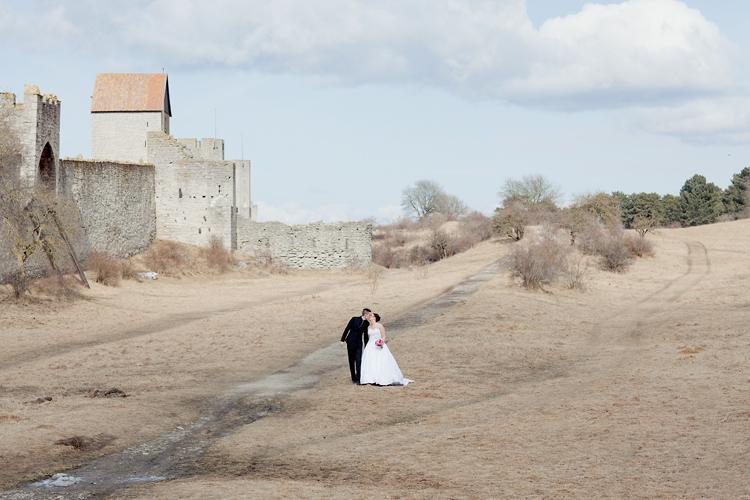 bröllopsfotografering i Visby