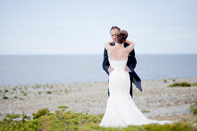 klassiska bröllopsbilder vid havet