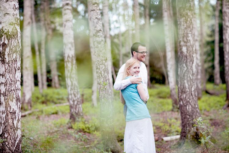 parfotografering i björkskog i Stockholm