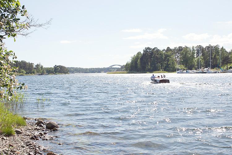 bröllop Djurö båtfärd