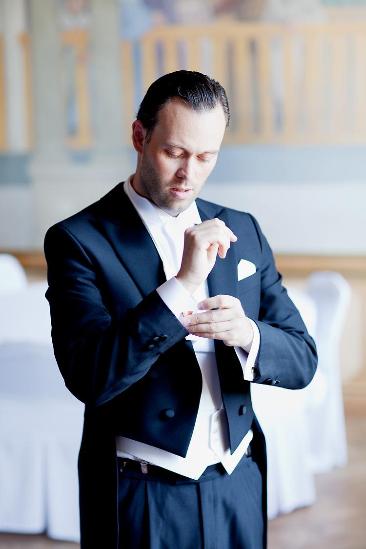 förberedelser bröllop brudgum Djursholm