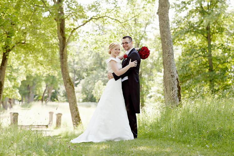 bröllopsfotografering vid Svartsjö Slott