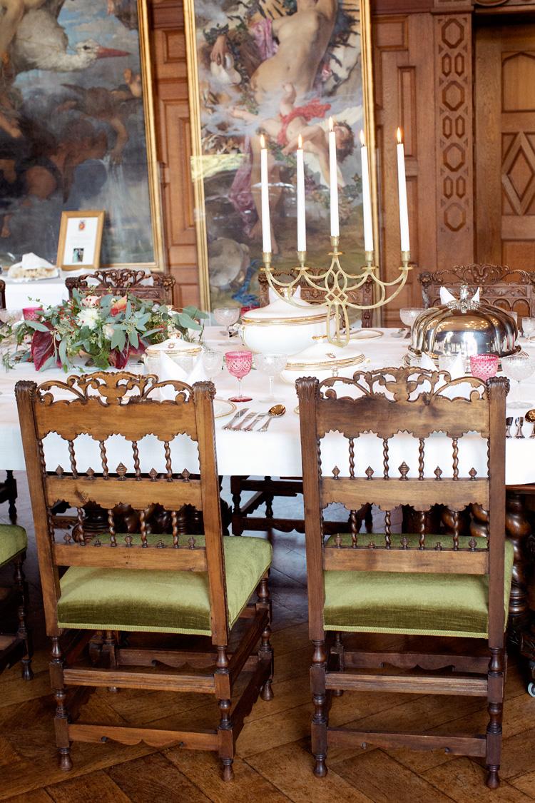 bröllop dukning Tjolöholms slott