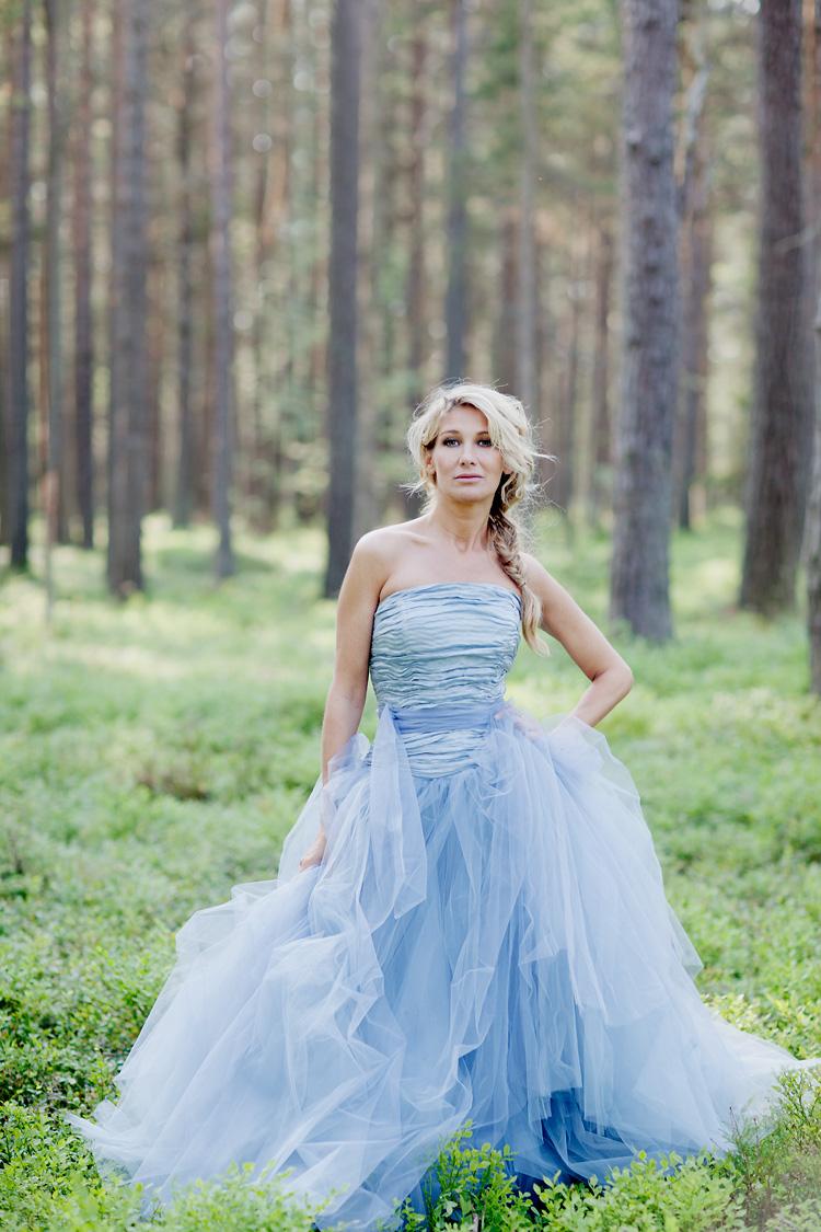 Blå Disa klänning Sandhamn Stockholm