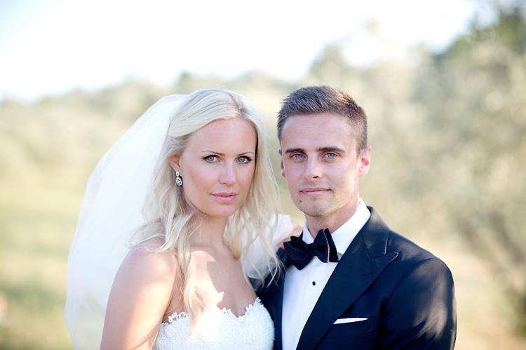 Brudpar fotograferade i Toscana