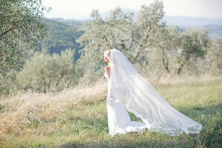 Brud med slöja Toscana, Italien