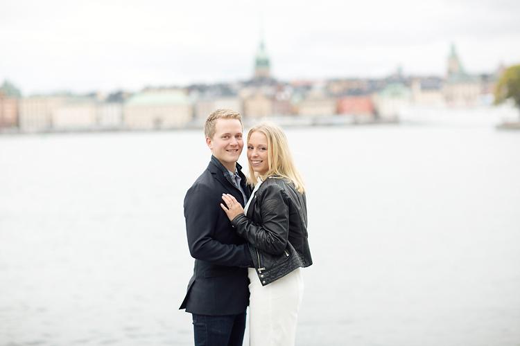 Skeppsholmen Stockholm fotografering av blivande brudpar