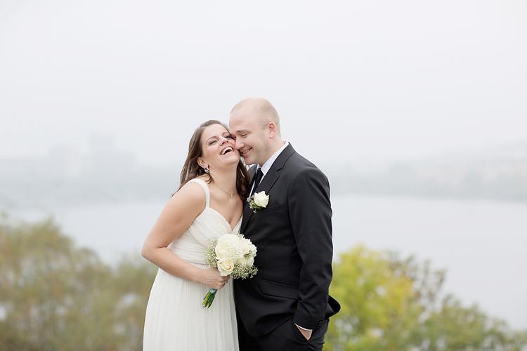 Höstbröllop i Stockholm med norskt par