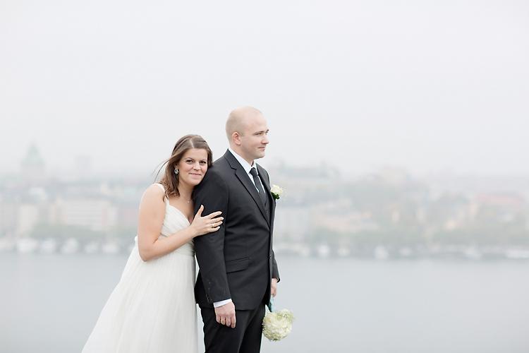 Bröllopsfotografering i dimma på Säder