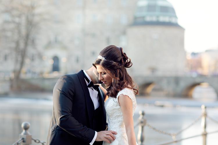 intim bröllopsbild Örebro