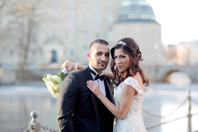 Brudpar i Örebro på Slottet