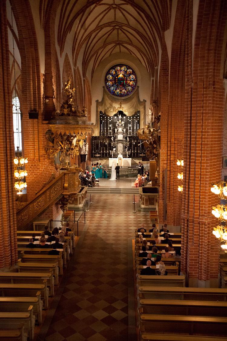 bröllop i Storkyrkan i Stockholm