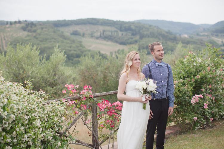 Vigsel i Toscana med svensk vigselförättare