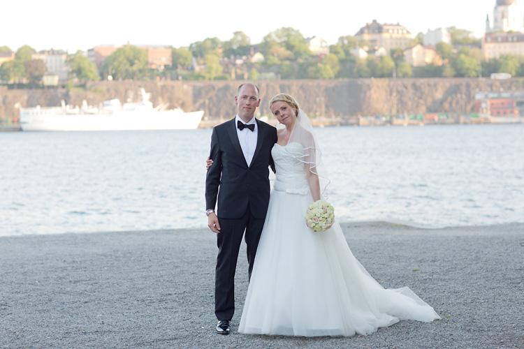 Bröllopsfotografering på Skeppsholmen