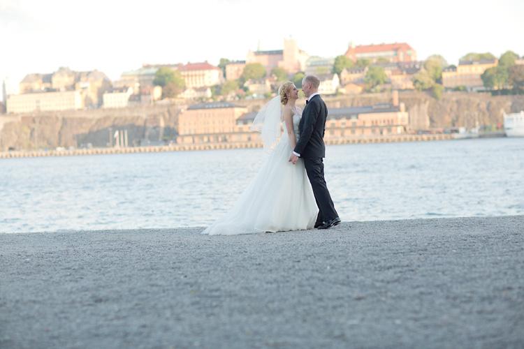 Bröllop med vy mot Södermalm i Stockholm