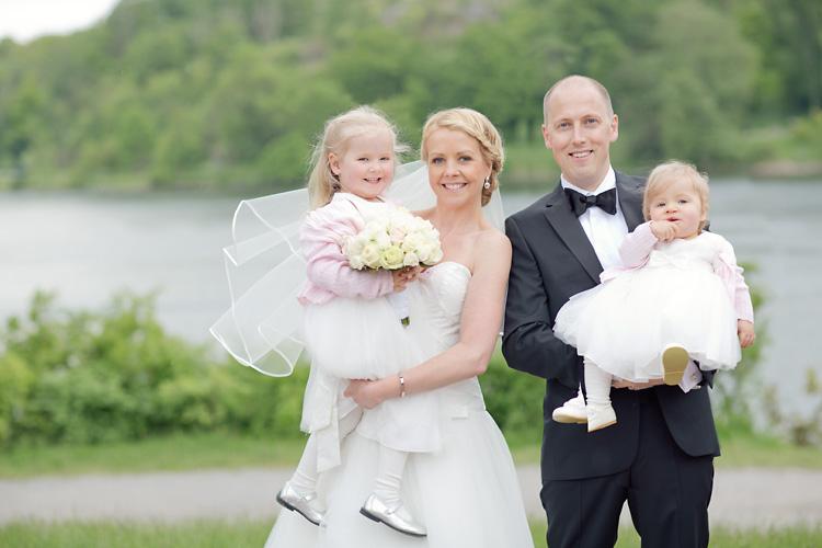 Familjeporträtt bröllop