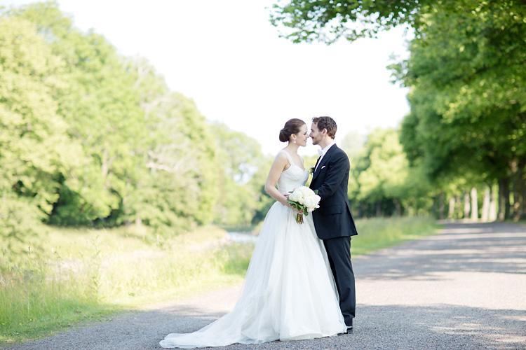 Vit brudbukett