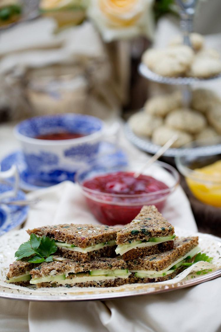 Sandwich Afteroon Tea  fotograferade av matfotograf Jessica Lund