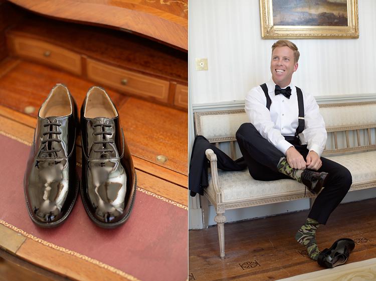 Brudgum och skor
