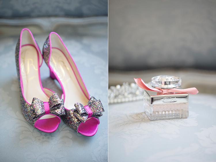 skor och parfym på bröllop