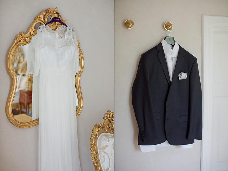 brudklänning och kavaj