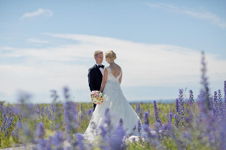 Bröllop i Visby med blåeld