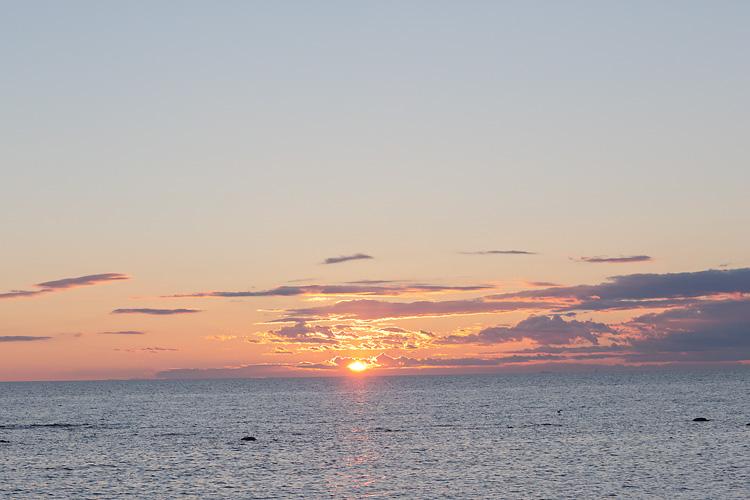 solnedgång Visby