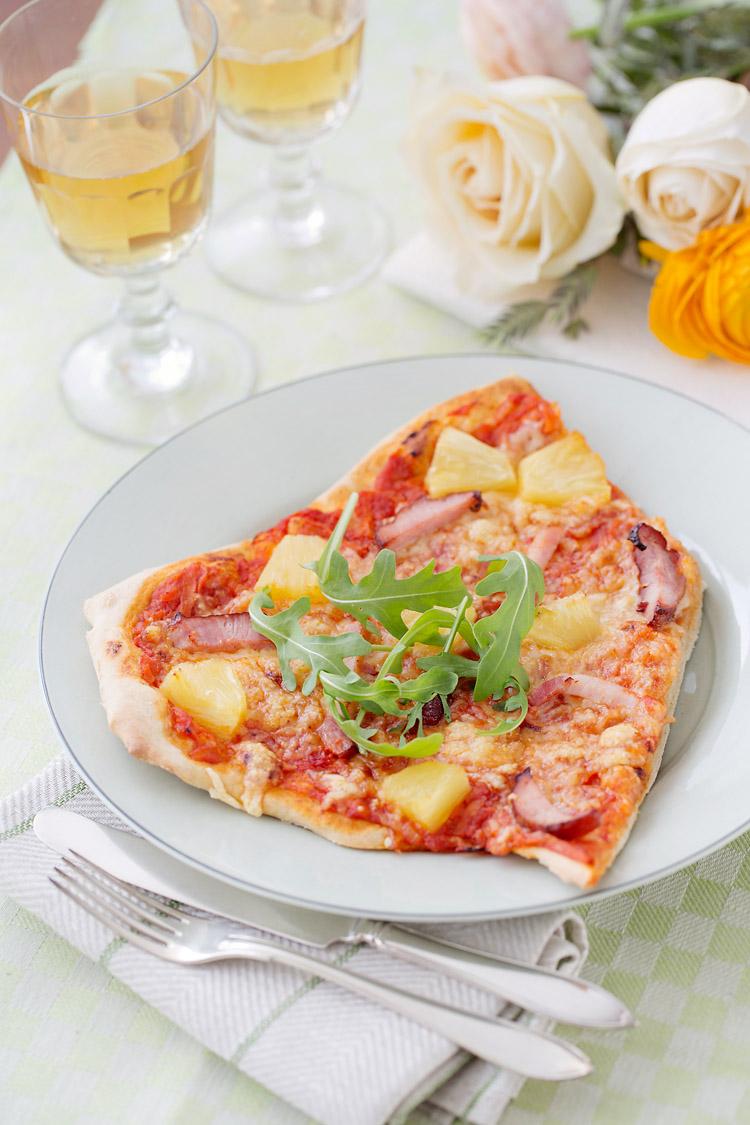 Pizza med kassler