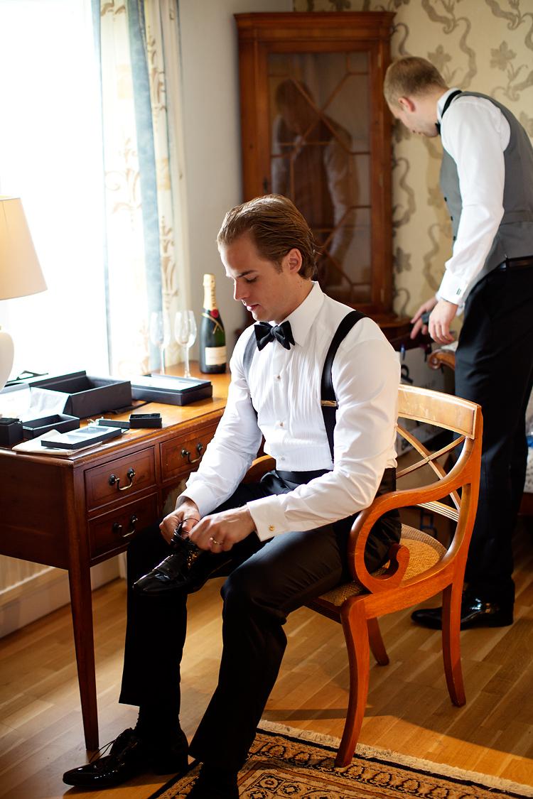 förberedelser brudgum