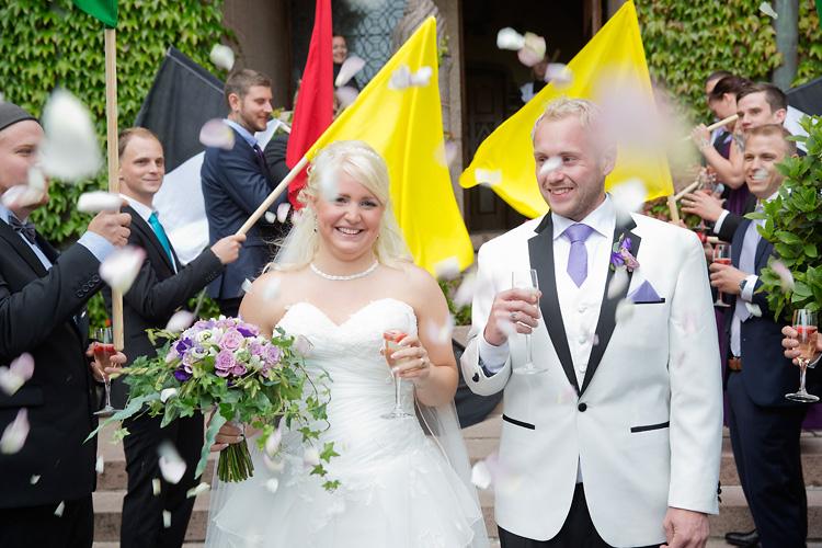 Bröllopsfotografering rallyförare