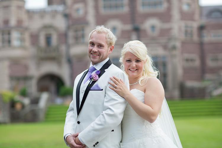 lila tema på bröllop