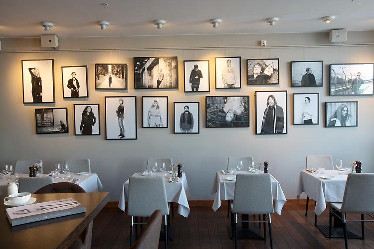 Jessica Lund utställning artistporträtt på Strand hotell