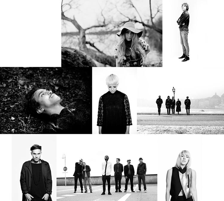 Bilder ur Jessica Lunds fotobok om svenska artister