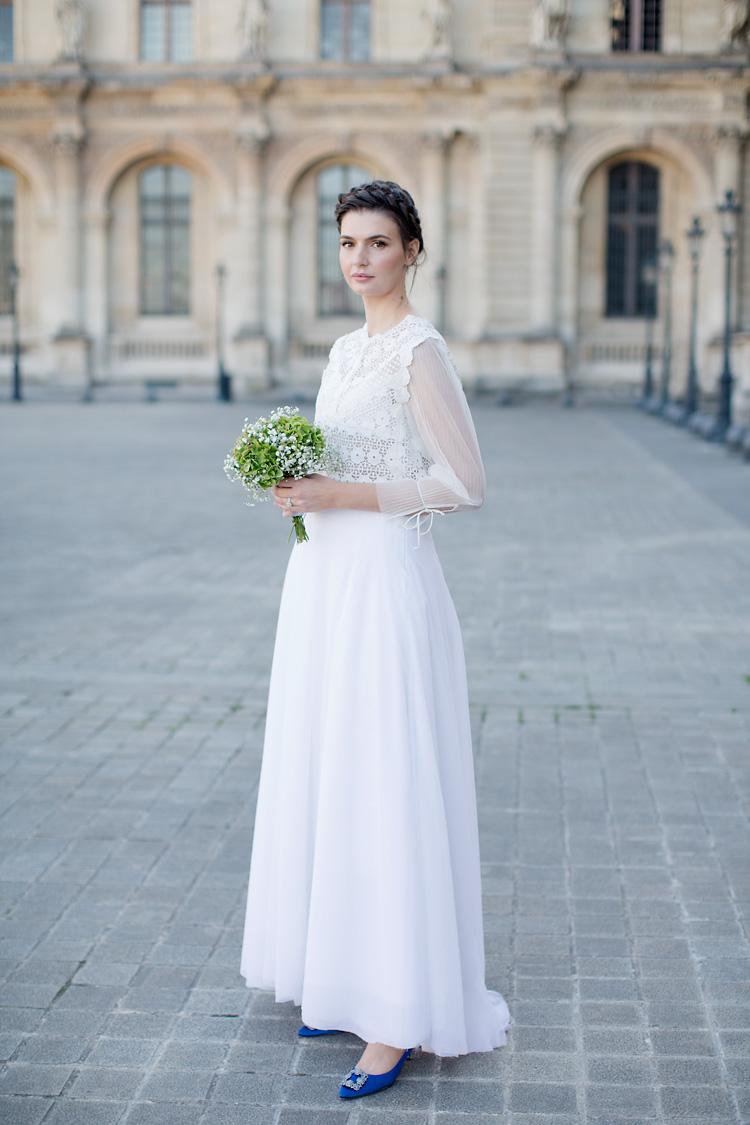 Brud vid Louvren