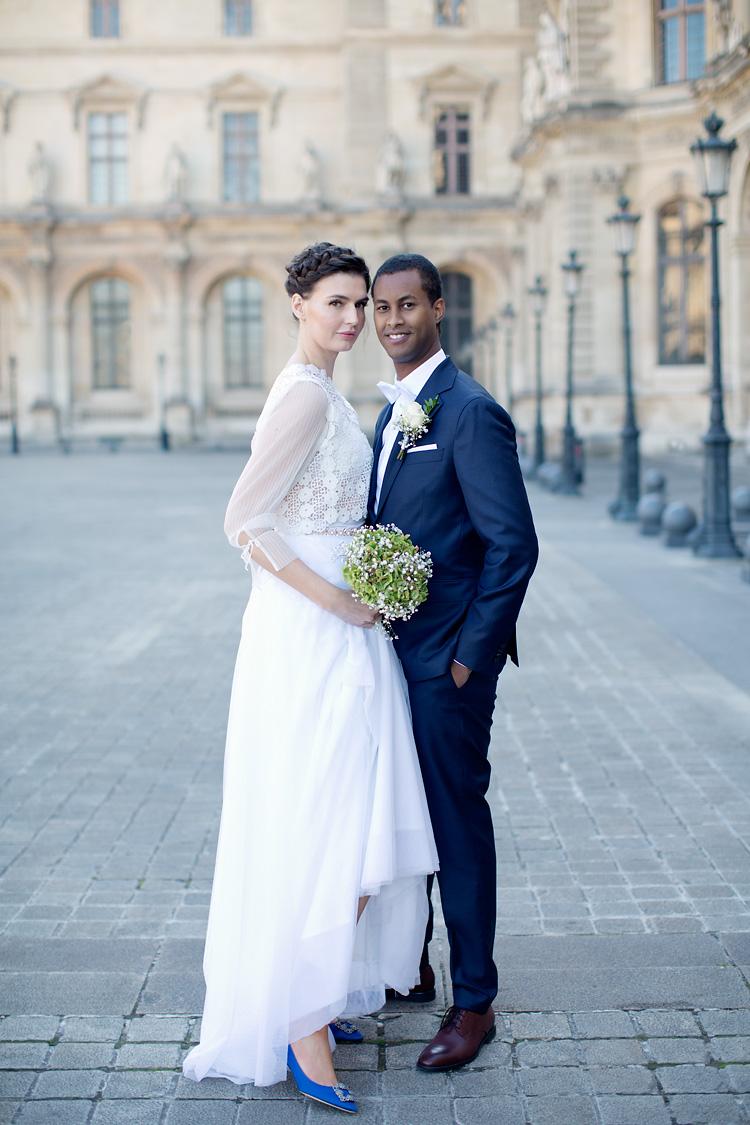 Brudpar fotograferade i Paris